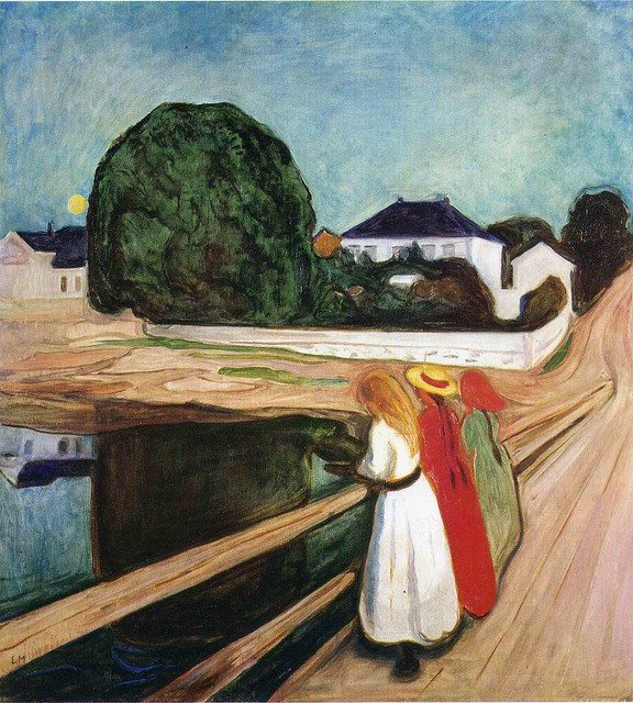 Edvard Munch - The girls on the bridge [1901]