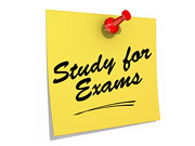 Study for Exams White Background | by One Way Stock