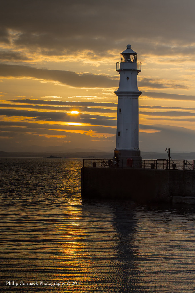 Newhaven Harbour Lighthouse at Sunset