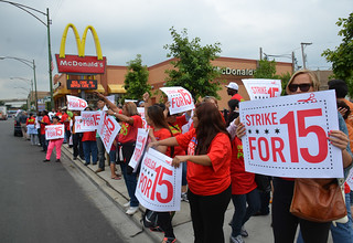Strike for 15 fast food strike at McDonald's in Chicago July 31, 2013 mc-24 | by Steve Rhodes