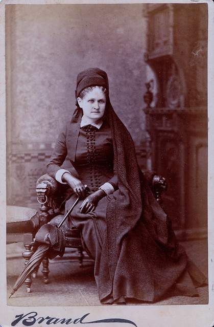 Chicago Mourner, Albumen Cabinet Card, Circa 1886