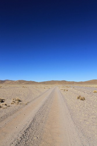 The straight road to San Antonio de Lipez | by Pikes On Bikes