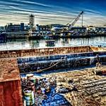 冬の朝の大正内港の風景Ⅱ