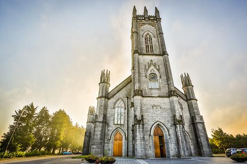 ireland galway sunrise hdr countygalway republicofireland tuam cathedraloftheassumption britishisles2013 cgw1514a cgp1522b