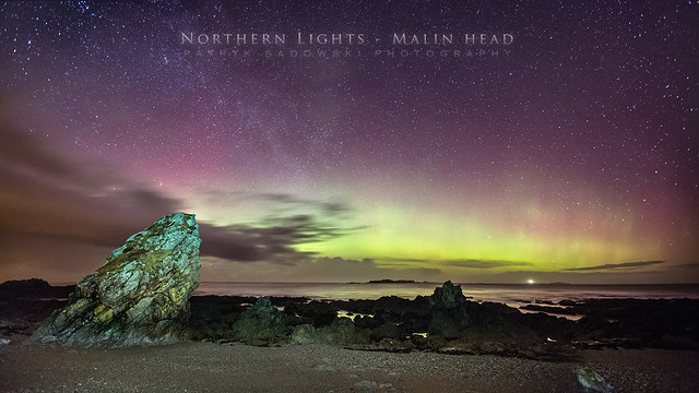 Aurora at Malin Head