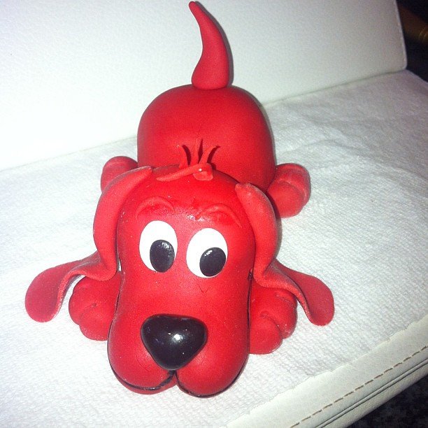 Incredible Clifford The Big Red Dog Cake Topper Clifford Cake Cake Flickr Personalised Birthday Cards Petedlily Jamesorg