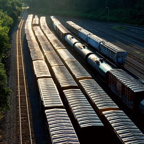 travel sun cars train sunrise early shine tracks richmond va transportation boxcar freight merge rva relections freightyard