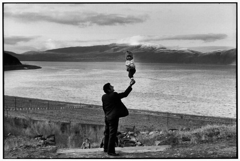 Henri Cartier-Bresson. SOVIET UNION. Armenia. Visitors at village on the Lake Sevan. 1972.