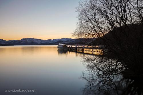 longexposure blue sunset england reflection tree yellow pier boat unitedkingdom lakedistrict cumbria steamer hdr ullswater pooleybridge greatphotographers ullswatersteamer canonef1635mmf4lisusm canoneos6d onlythebestofflickr jonbagge