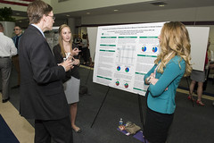 Erika & Erin presenting to Dr. Bill Ayres