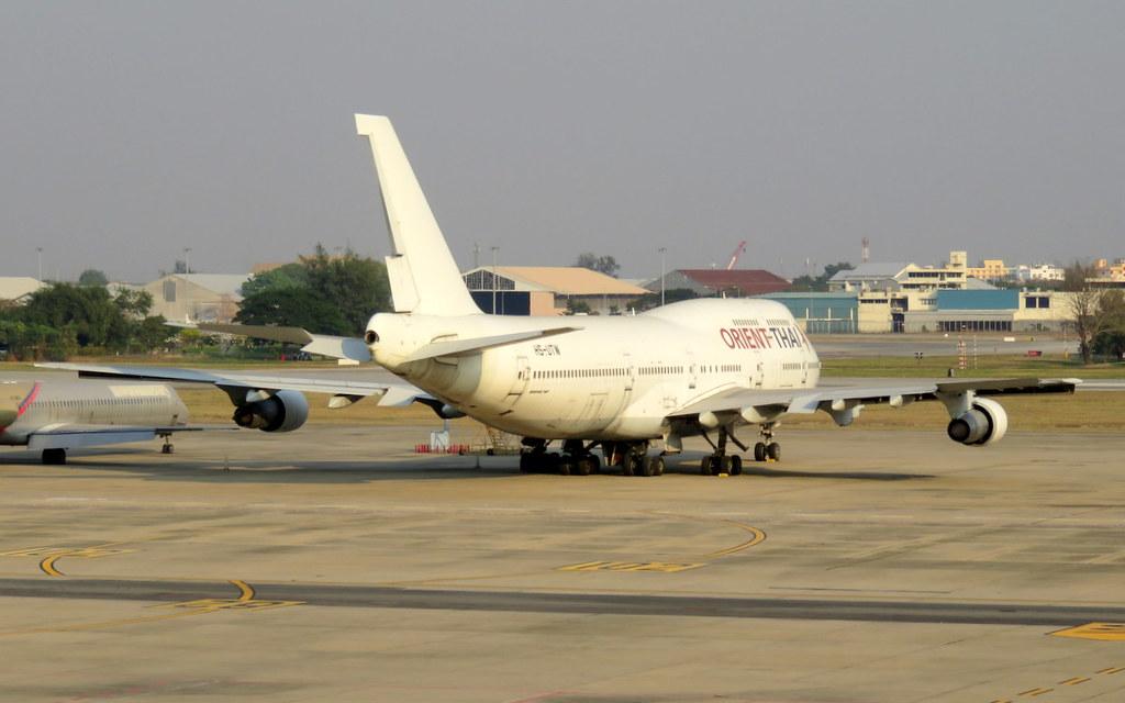 HS-UTW / Orient Thai Airlines / Boeing B747-346 / cn 23067 / ln 588 / DMK / 16Feb17 / stored /