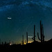 Draconid Meteor Shower 2013 Panoramic by Sean Parker Photography