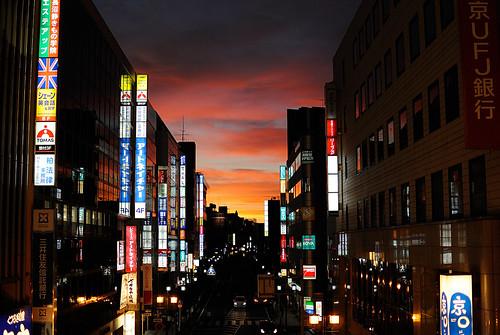 city sunset japan dusk chiba kashiwa 柏 nikon1v1 1nikkor185mm