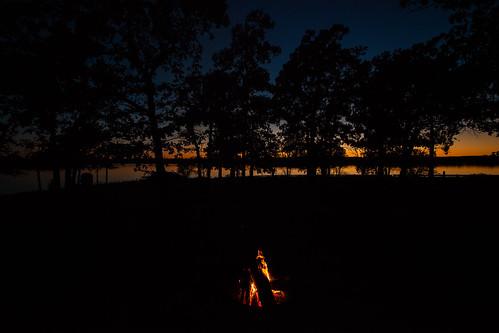 sunset toronto silhouette canon landscape fire evening campfire kansas 1740mm crosstimbers