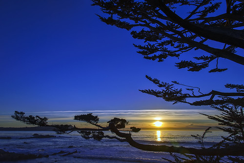 california nikon d600 nikkor 24120mm lens f4 west coast pacific ocean 17 mile drive clear night sunset al case