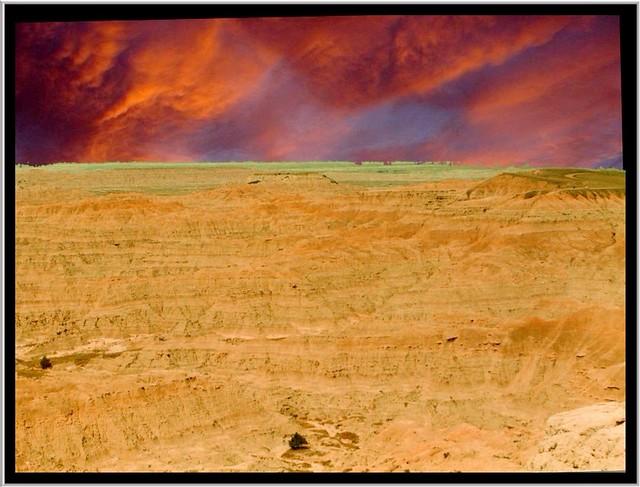 Badlands National Park ~  South Dakota ~ Historic Site ~ Old 35mm Fillm