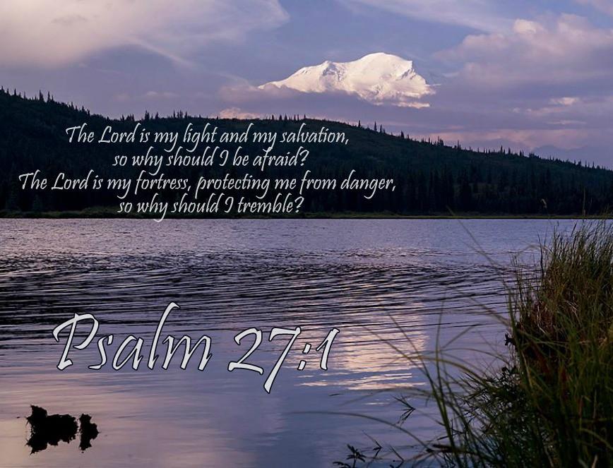 Psalm 27:1 nlt | 02-20-14 Today's Bible Scripture  | Bob