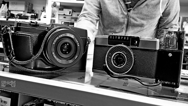 Old and New Olympus PEN