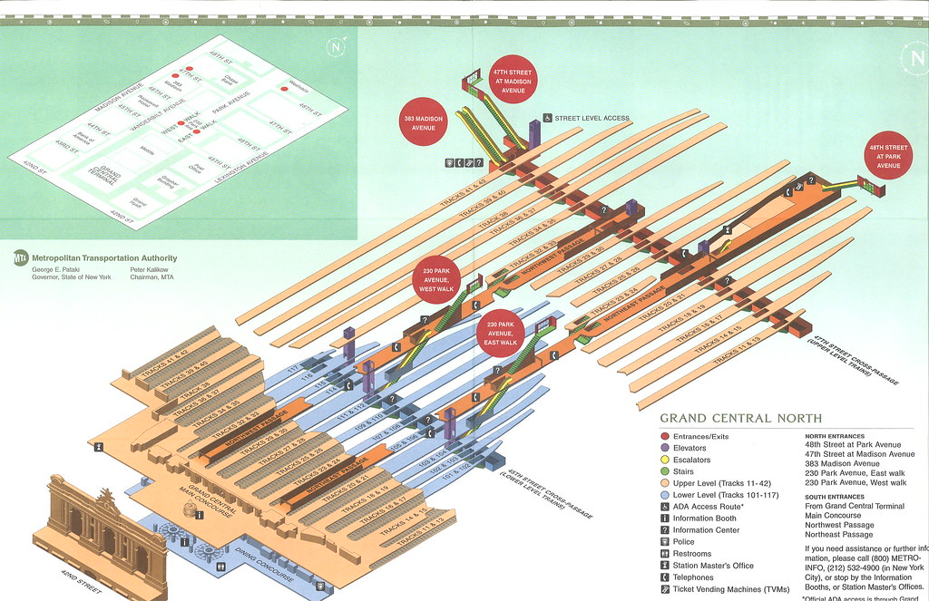 Grand Central Map Map of Grand Central North   GCT North End Access   scan of …   Flickr