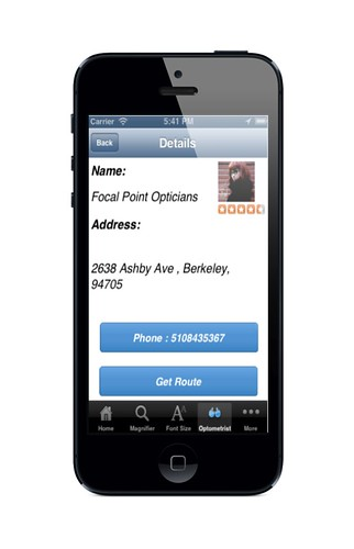 Optometrist Contact Details | by bigfontapp