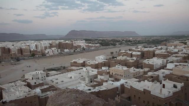 Muezzin's call in shebam, the Manhattan of the desert,  tribal region of Hadramawt, northeast Yemen