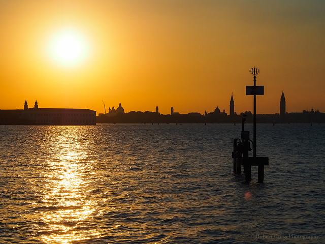 Sunset over Venice
