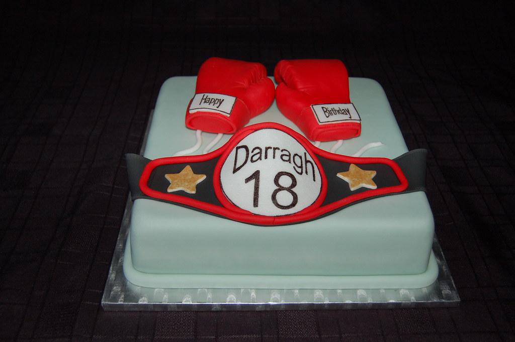 Awe Inspiring Boxing Glove And Belt Birthday Cake Boxing Glove And Belt Flickr Birthday Cards Printable Inklcafe Filternl