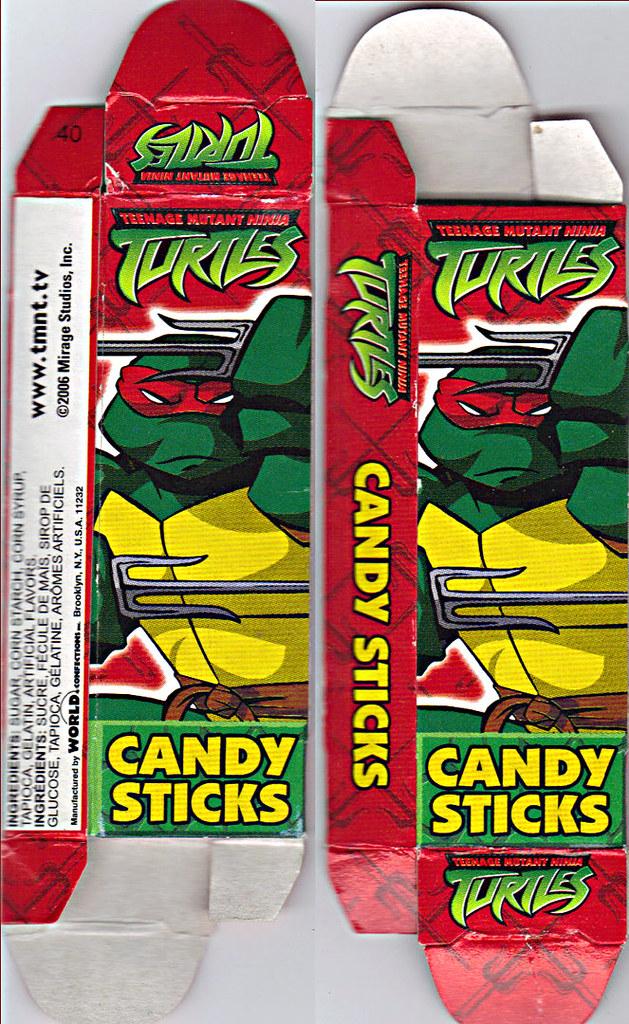 WORLD Confections :: COMIX MIX CANDY STICKS vi / ..'Raphael' box  (( 2008 )) by tOkKa