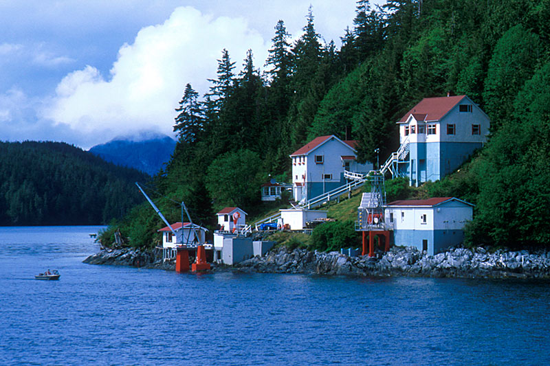 Light Station on the Inside Passage, West Coast of British Columbia, Canada