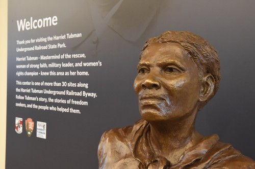 Photo of Harriet Tubman bust in park Visitors Center