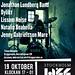 Affischen för Stockholm Jazz Festival i Bryggarsalen den 19/10