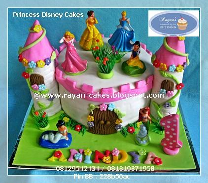 Princess Disney Birthday Cakes Fondant Kue Ulangtahun Ja