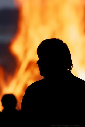 bridge summer people lake man silhouette mystery finland fire midsummer accident traditional celebration burning bonfire tradition jyväskylä witness backview midsummerseve canonef70300mmf456isusm canon40d