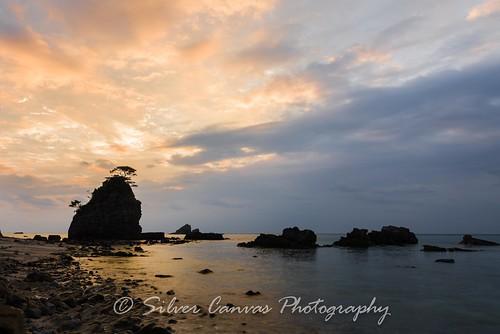beach japan sunrise bonsai okinawa kayo