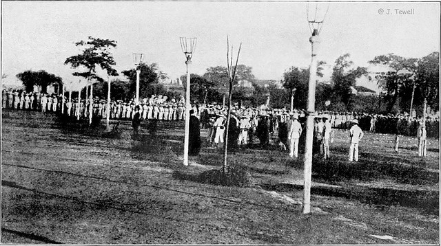 Execution of Dr. Jose Rizal at Bagumbayn (Luneta - Rizal Park), Manila, Philippines, December 30, 1896