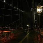 A lamp on Brooklyn Bridge
