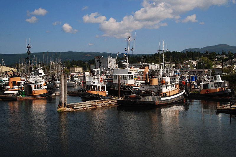 Tugboats at B. Gregory Dock, Port Alberni, Alberni Valley, Vancouver Island, British Columbia