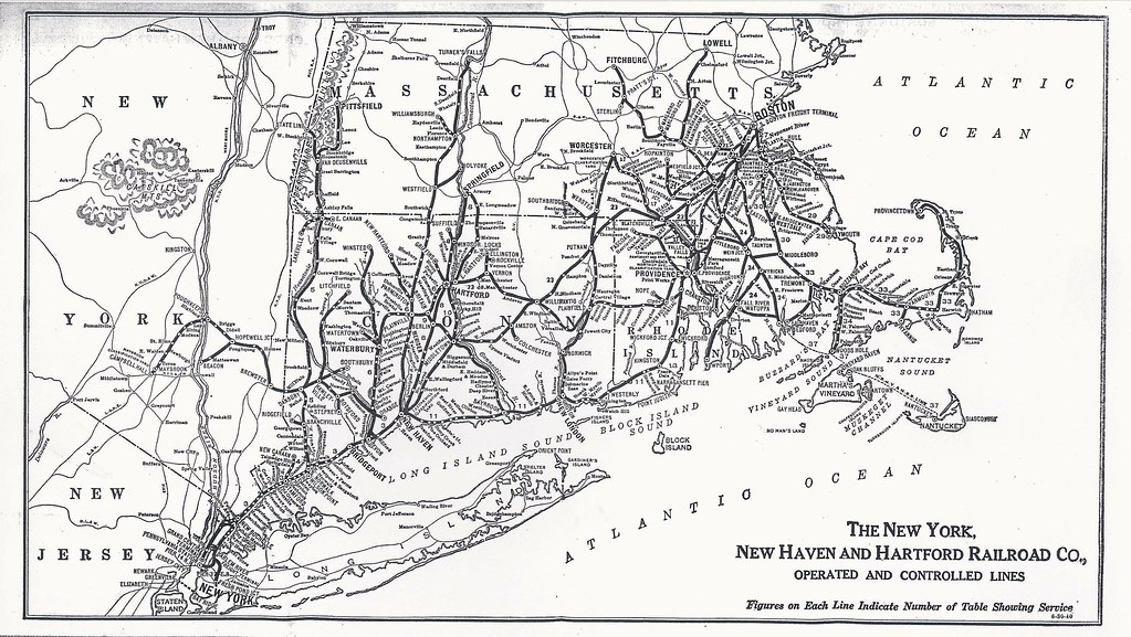 Map Of New York Rail System.New York New Haven And Hartford Railroad System Map 194 Flickr