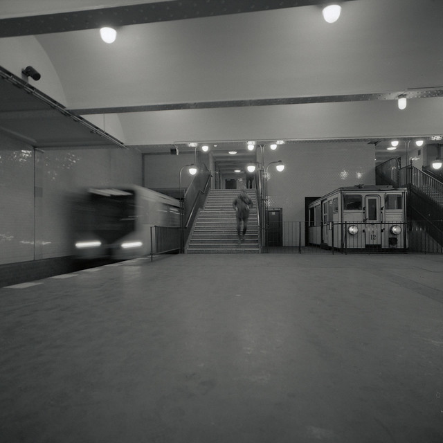 Between two Trains II