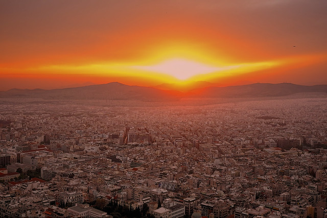 Sunset on Lycabettus