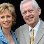 Father and daughter - Sally and Magnus Magnusson |