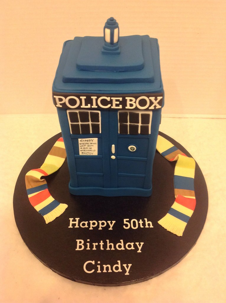 Groovy Dr Who Tardis Birthday Cake Liz Flickr Funny Birthday Cards Online Inifofree Goldxyz