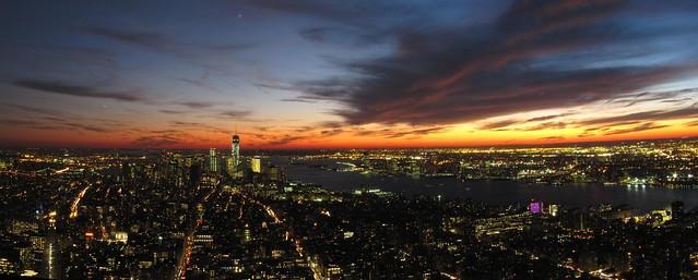 Lower Manhattan desde el Empire State Building,, Nueva York, EEUU