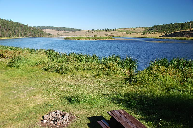 Bechers Pond Recreation Site, Riske Creek, Chilcotin, British Columbia