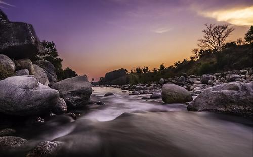sunset river palampur 2013