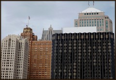 View From Cobo Rooftop Parking # 1--Detroit MI