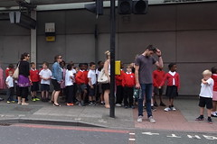 school kids at Bermondsey Station