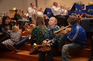 Brassbandfestivalen 2012 - Halmstad Brass Band och kulturskoleelever