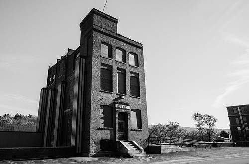 new old city blackandwhite bw usa building mill monochrome landscape office scary nikon nh eerie hampshire tokina claremont monadnock 1224f4 d7000