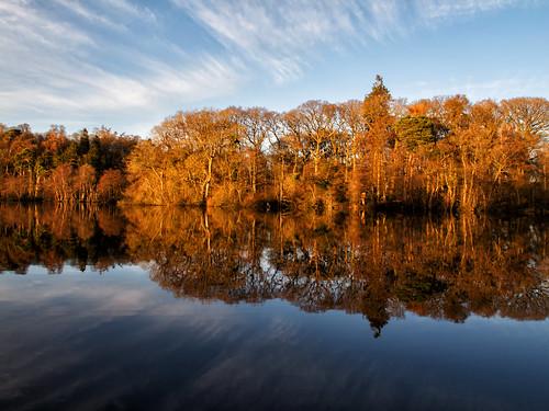 blue sky orange lake reflection water canon landscape ian landscapes shropshire wright fin mere g12 ianwright ellesmere blakemere finwright finwrightphotographycouk